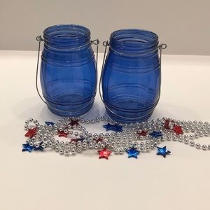 🔷Set of 2 Mason Jar Candle Holders